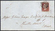 1841 1d Red-brown Plate 10 'TE'