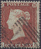 1854 1d Red C1 Plate 170 'GC'