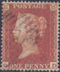 1854 1d Orange-red C1(5) Plate 179 'GD'