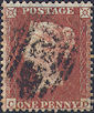 1855 1d Red C2 Plate 204 'CD'