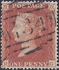 1854 1d Red C1 Plate 191 'RG'