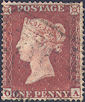 1854 1d Brick-red C1(3) Plate 203 'OA'