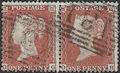 1855 1d Red C2 Plate R5 'OG-OH' Pair