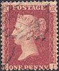 1857 1d Rose-red C10 Plate 60 'EI'