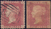 1857 1d Rose-red C10 Plate 48 'AC' Imperf