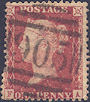 1857 1d Rose-red C10 Plate 67 'FA'