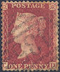 1861 1d Rose-red C12 Plate 50 'CD'