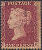 1861 1d Rose-red C12 Plate 50 'EE'