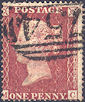 1857 1d Rose-red C11 Plate 27 'MC'
