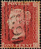 1857 1d Rose-red C11 Plate 45 'GC'