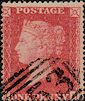 1857 1d Rose-red C11 Plate 58 'JD'