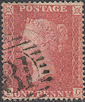 1857 1d Rose-red C11 Plate 55 'PG'