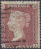 1855 1d Red C3 Plate 18 'CA'