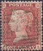 1855 1d Red C6uc Plate 4 'CL'