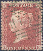 1855 1d Red C6uc Plate 5 'LE'