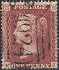1855 1d Red C4 Plate 4 'EJ'