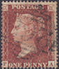 1855 1d Red C4 Plate 10 'PA'