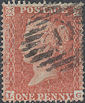 1855 1d Red C5 Plate 8 'LG'