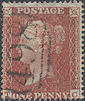 1855 1d Red C5 Plate 7 'TC'