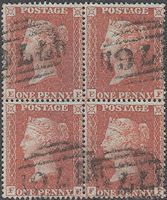 1855 1d Red C4 Plate 6 'EE-FF'