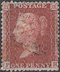 1856 1d Brick-red C8(2) Plate 34 'PH'