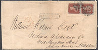 1841 1d Red-brown Plate 42 'IA-JA' Limerick MX