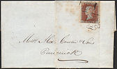 1841 1d Red-brown Plate 25 'JF'
