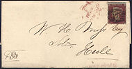 1854 1d Red C1 Plate 165 'TI'