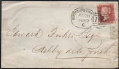 1857 1d Rose-red C9 or C10 Plate 38 'AF'