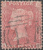 1857 1d Pale Red C9(3) Plate 46 'AC'